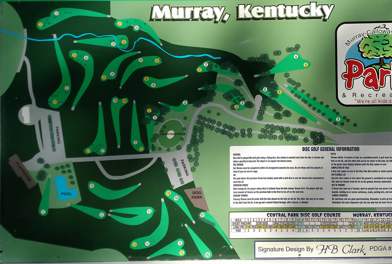 Central Park DGC in Murray, KY - Disc Golf Course Review