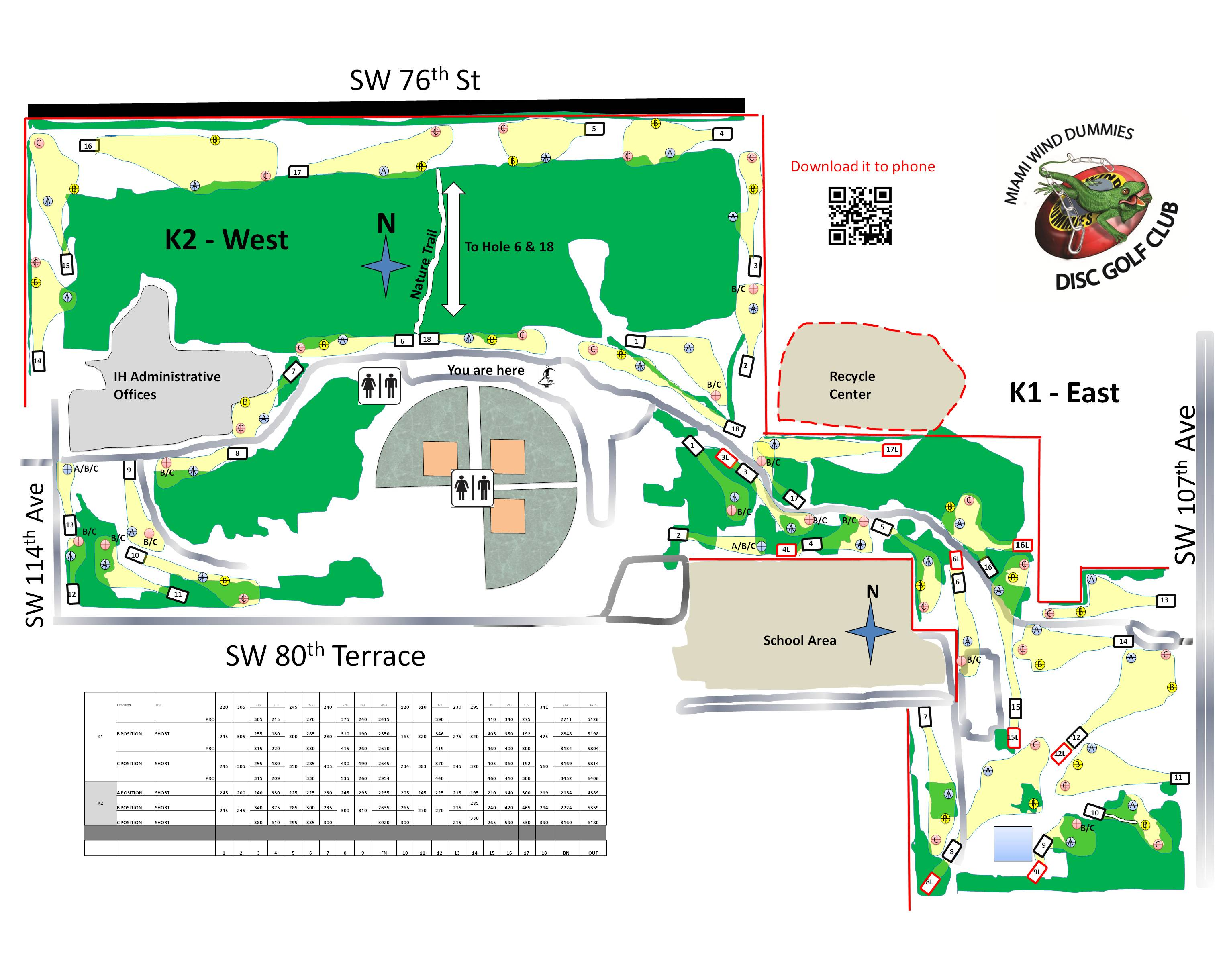 Kendall Indian Hammocks Park West In Miami Kendall FL Disc - Kendall florida map