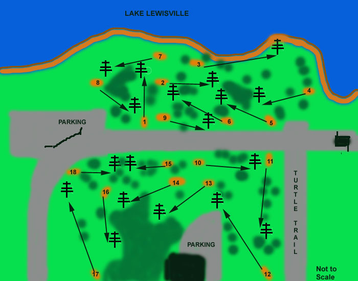 Lake Lewisville Park Old Layout in Lewisville TX Disc Golf
