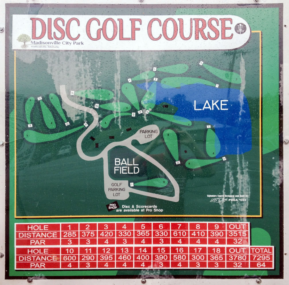 Madisonville City Park DGC in Madisonville, KY - Disc Golf ...