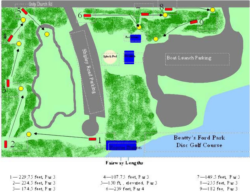 Beatty's Ford Park in Denver, NC - Disc Golf Course Review on