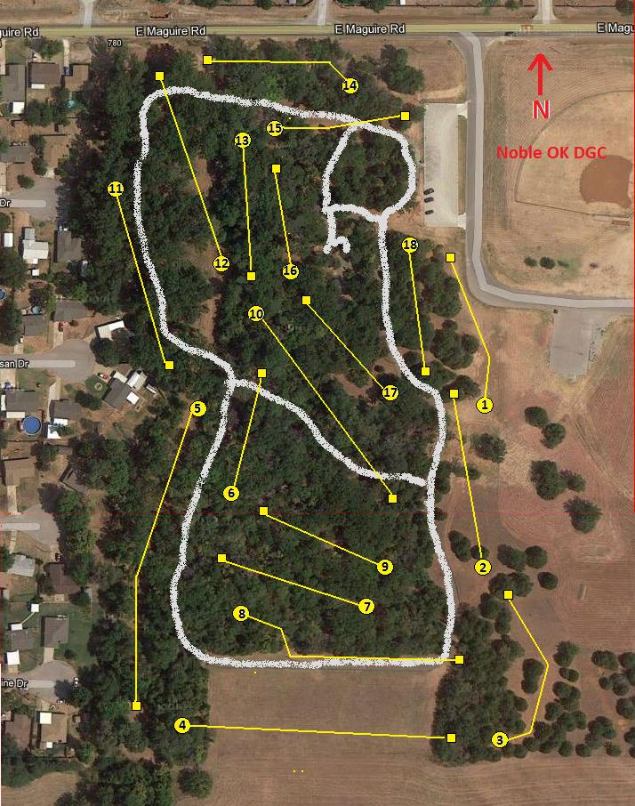 Noble Dgc In Noble Ok Disc Golf Course Review