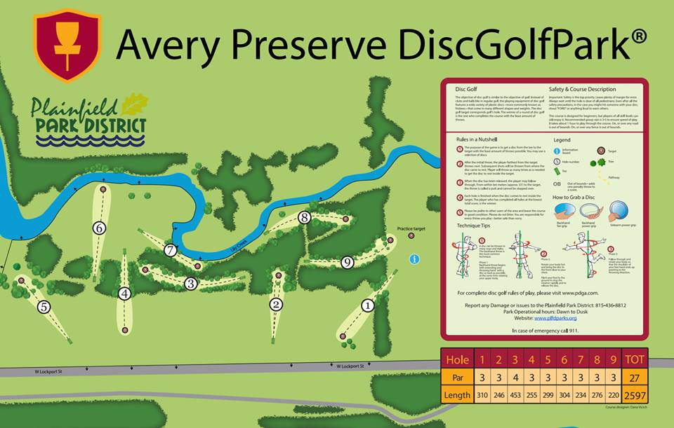 Avery Preserve DiscGolfPark in Plainfield, IL - Disc Golf ...