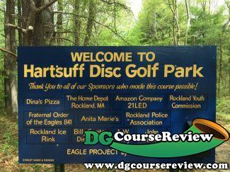 Hartsuff Park Dgc In Rockland Ma Disc Golf Course Review